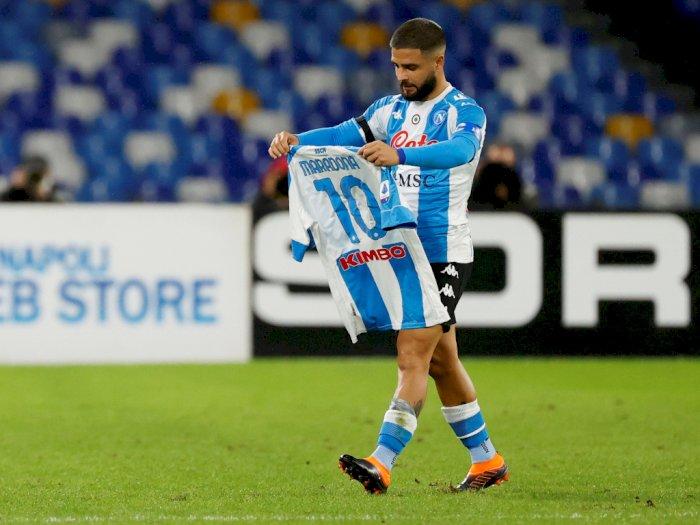 Napoli 4-0 Roma: Lorenzo Insigne Selebrasi dengan Jersey Nomor 10 Maradona