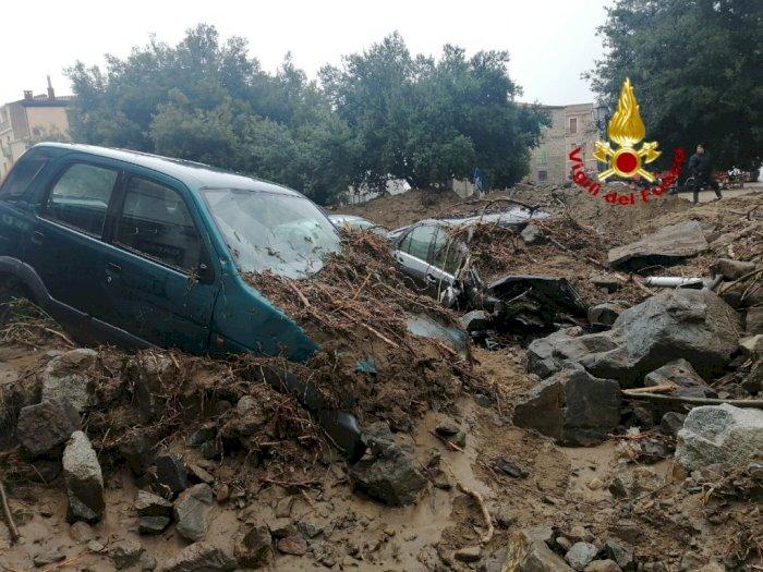 FOTO: Sedikitnya Tiga Orang Tewas Akibat Banjir di Sardinia