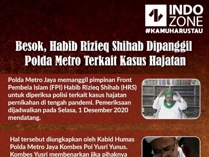 Besok, Habib Rizieq Shihab Dipanggil Polda Metro Terkait Kasus Hajatan