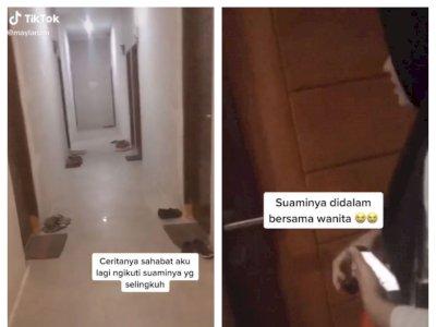 Wanita Ini Pergoki Suami Bareng Pelakor di Kamar, Netizen Kesal Kenapa Pintunya Diketok!
