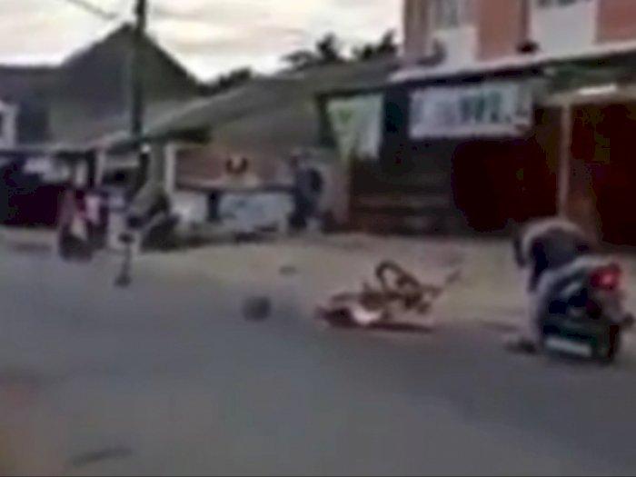 Tragis, Pesepeda Tewas Terlindas Truk, Sopir Truk Tak Sabaran Ingin Menyalip