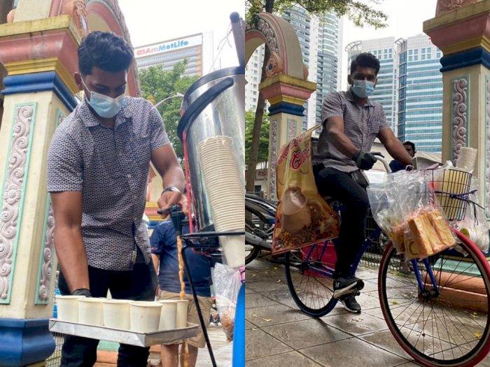 Akibat Pandemi COVID-19, Lulusan Sarjana Teknik Ini Harus Jadi Penjual Teh Keliling