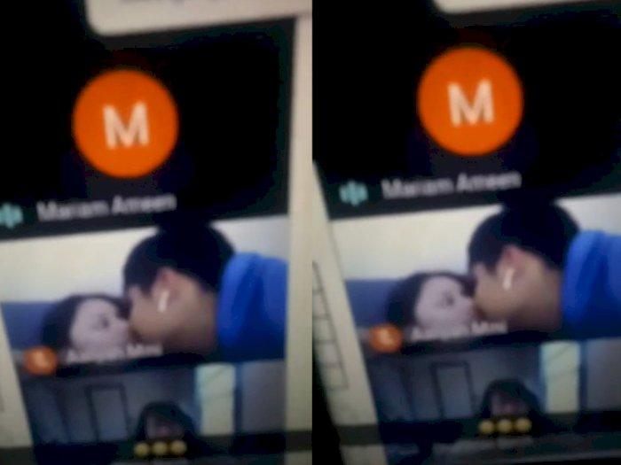 Lupa Matikan Kamera Saat Kelas Online, Sepasang Kekasih Ini Terciduk Tengah Berciuman