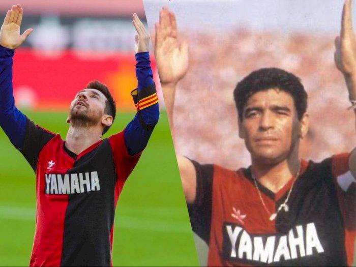 Selebrasi Gol Ala Messi untuk Mendiang Maradona di Laga Barcelona vs Osasuna