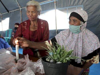 FOTO: Pelatihan Keterampilan Pengungsi Merapi