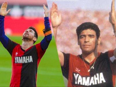 Dianggap Salahi Aturan, Barcelona Berpotensi Didenda Akibat Selebrasi Messi untuk Maradona
