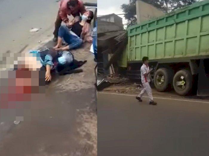 Korban Tewas dengan Tubuh Hancur, Sopir Truk Kecelakaan Maut di Sumedang Kabur