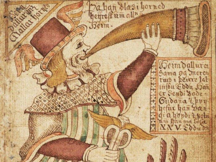 Heimdall, Peniup Terompet Peristiwa Ragnarok dalam Mitologi Norse