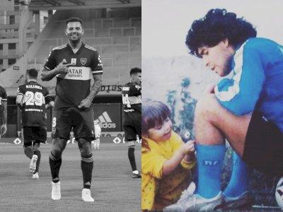 Pemain Boca Juniors Edwin Cardona Persembahkan Gol Untuk Maradona, Putrinya Menangis