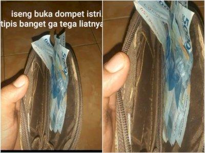 Viral 'Suami Idaman' Buka Dompet Istri yang Tipis, Inisiatifnya Malah Bikin Netizen Kecewa