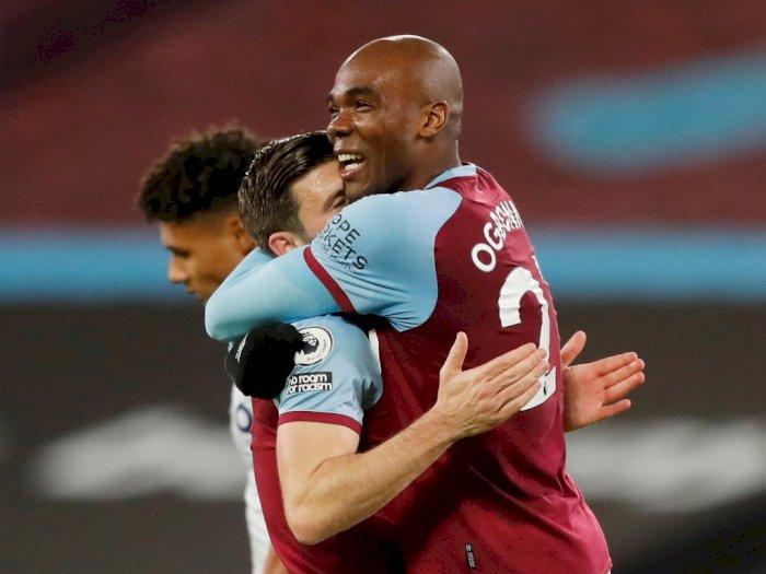 FOTO: Liga Inggris, West Ham Tundukkan Aston Villa 2-1