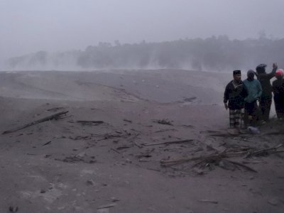 FOTO: Banjir Lahar Dingin Semeru