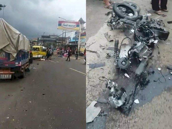 BREAKING NEWS: Kecelakaan Beruntun di Sumedang, Korban Bergelimpangan Mengenaskan