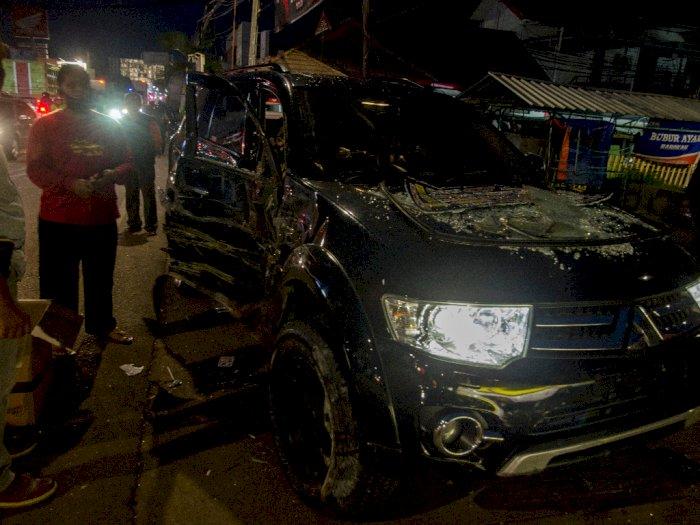 FOTO: Kecelakaan Beruntun di Sumedang