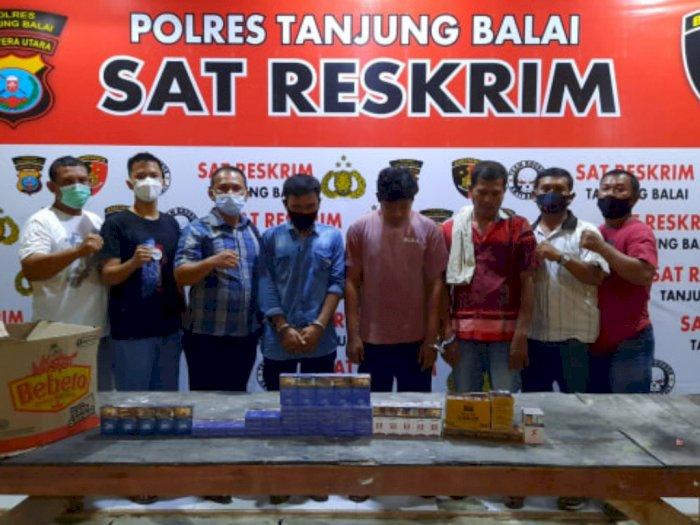 Curi Puluhan Bungkus Rokok di Kedai Milik Warga, 3 Pria di Tanjung Balai Diringkus Petugas