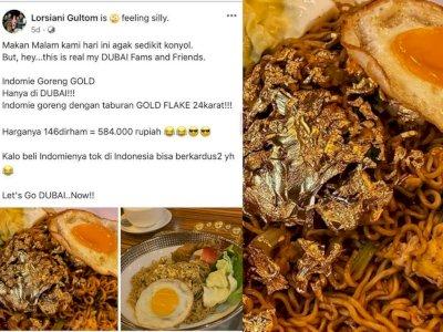 Sultan! Ibu Ini Makan Mie dengan 'Toping' Emas, Netizen Soroti Harganya