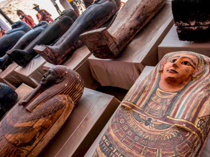 Penemuan Lebih dari 100 Sarkofagus Kuno di Mesir, Terbesar Sepanjang Tahun 2020