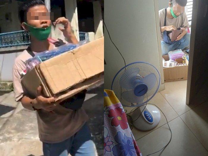 Bikin Heboh! Pria Ini Bela-belain Naik ke Lantai 3 Kos Putri Tawari Jualan, Ternyata Modus