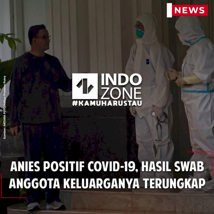 Anies Positif Covid-19, Hasil Swab Anggota Keluarganya Terungkap