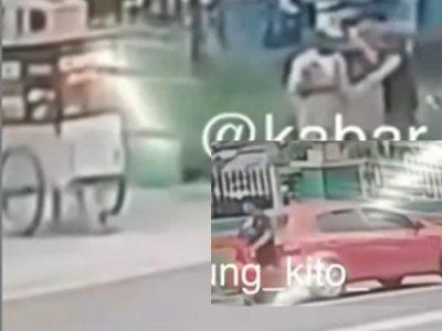 Viral Tukang Bakso Keliling Ditendang Pria Bermobil Hingga Terjatuh, Begini Videonya