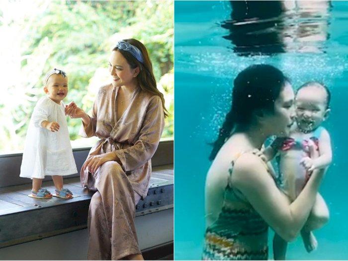 Aktif saat Berenang, Anak Shandy Aulia Panen Pujian Netizen: Kakinya Luwes Banget