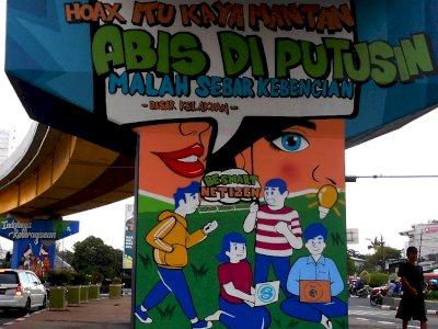 FOTO: Mural Taat Berlalu Lintas di Bekasi