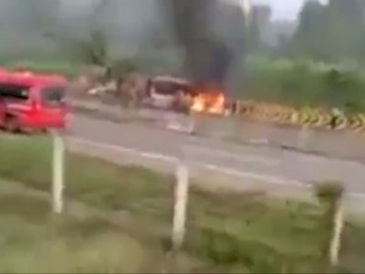 Korban Kecelakaan Tol Ngawi Merupakan Satu Kerabat, Tiga Diantaranya Hangus terbakar