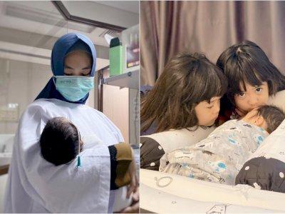 Anak Keempat Oki Setiana Dewi Sudah Pulang ke Rumah, 2 Kakaknya Rebutan Pengen Cium