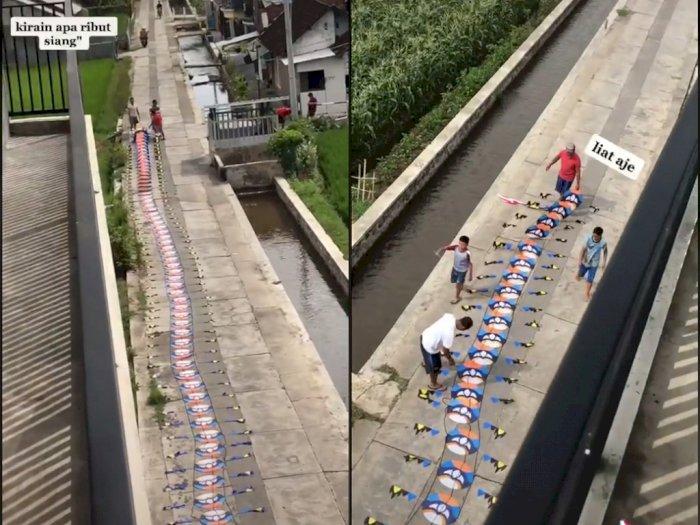Video Saat Layangan Super Panjang Diterbangkan, Netizen Salfok dengan Lingkungan yang Adem