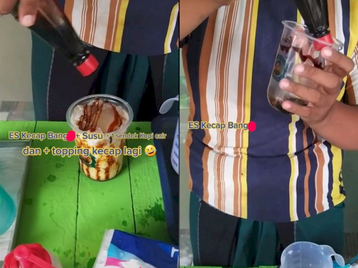 Tak Biasa! Viral Minuman Es Kecap Pakai Susu, Netizen Penasaran dengan Rasanya