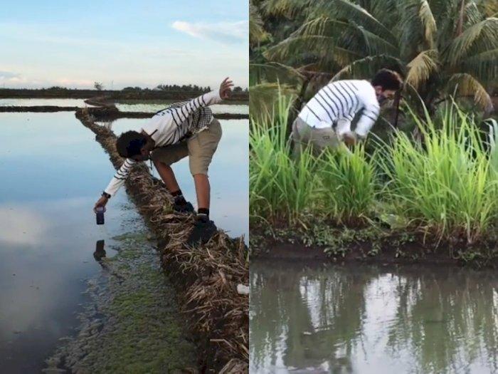 Sempat Diragukan Netizen, Pria ini Buktikan Bisa Bikin Video Keren Meski di Sawah