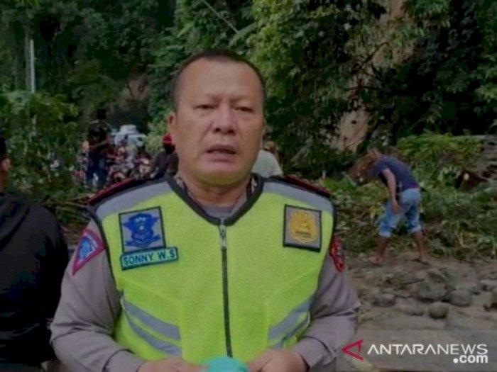 Jalan Medan-Berastagi Sempat Putus, Polisi Himbau Kemungkinan Bakal Ada Longsor Susulan