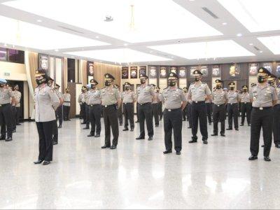 Kapolri Pimpin Kenaikan Pangkat 46 Pati Polri, Diingatkan untuk Bersyukur