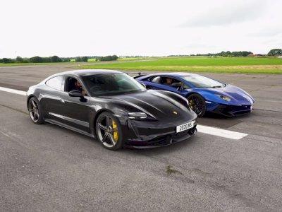 Apakah Porsche Taycan Turbo S Dapat Kalahkan Lamborghini Aventador SV?