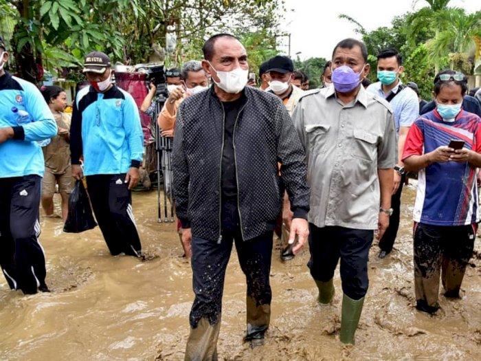 Gubernur Edy Sebut Banjir di Tanjung Selamat Disebabkan Adanya Sungai yang Dimatikan