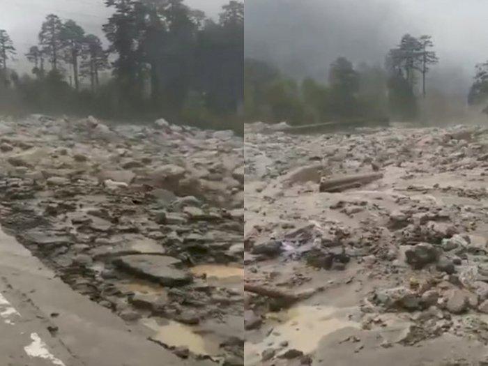 Beredar Video Curah Kobokan Dilanda Banjir Lahar Dingin dari Gunung Semeru, Ini Faktanya