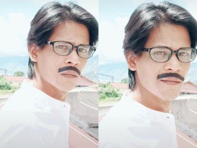 Viral Pria Dandan Ala Shah Rukh Khan, Netizen Gak Kuat Lihat Tatapan Matanya