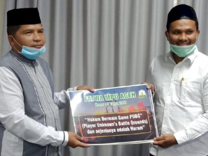 Ulama Aceh Terbitkan Stiker Larangan Main Judi Online & PUBG ke Semua Kafe