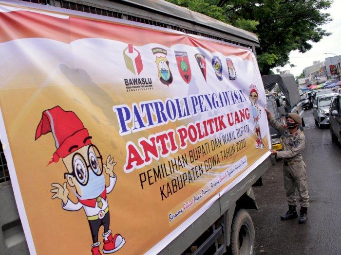 FOTO: Patroli Pengawasan Anti Politik Uang Jelang Pilkada Gowa