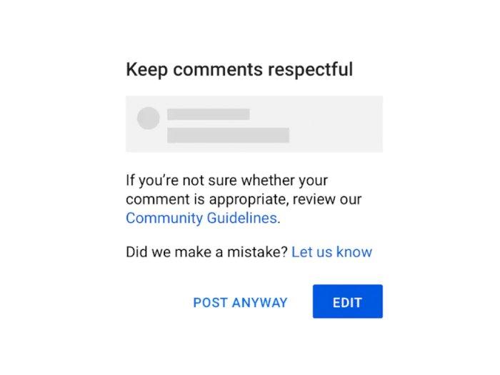YouTube Peringatkan Pengguna Saat Berkomentar Hal yang Bersifat Menyinggung