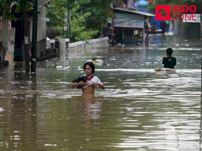 Hujan Deras dan Meluapnya Kali Ciliwung, 23 RT di Jakarta Banjir