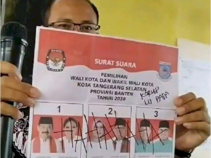 Viral Video Surat Suara Pilkada 2020 Dicoret Koruptor, Netizen: Mewakili Rakyat!
