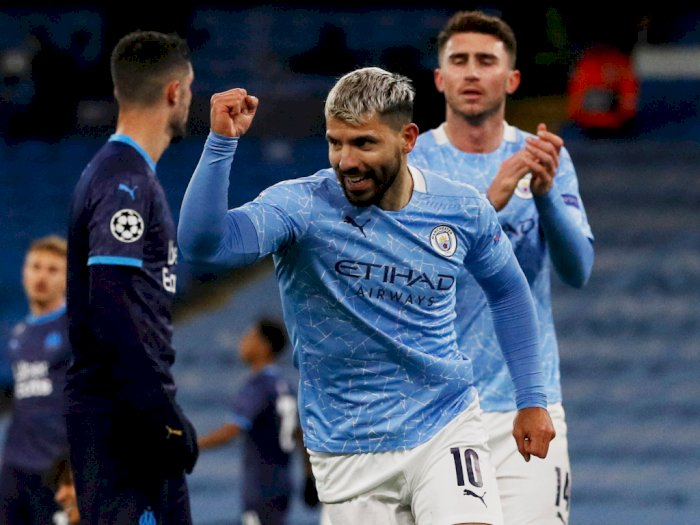 Cetak Gol City vs Marseille, Guardiola Klaim Aguero Tak Jadi Starter Saat Derby Manchester