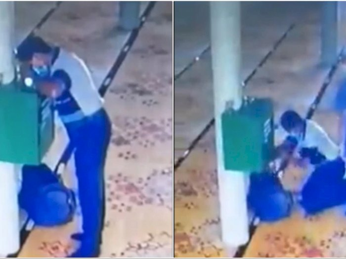 Aksi Maling Bobol Kotak Amal di Masjid, Berhasil Bawa Uang Satu Tas Besar