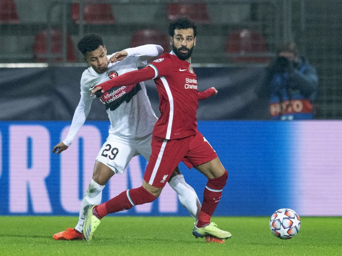 Midtjylland 1-1 Liverpool: Bobol Gawang Lawan di Menit 1, Salah Salip Rekor Gerrard di UCL