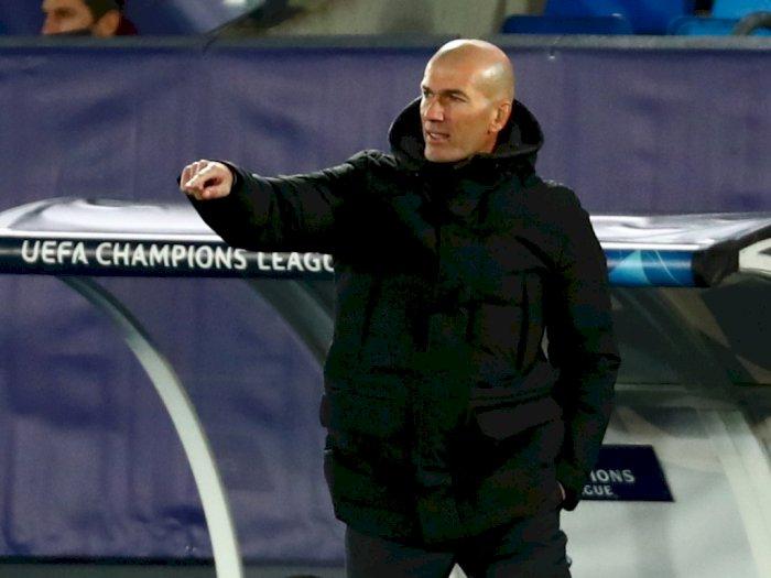 Lolos ke Fase Sistem Gugur UCL, Zidane Bertekad Bimbing Real Madrid Lewati Masa-Masa Sulit
