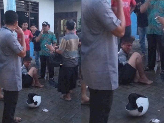 Terciduk Warga Saat Curi Motor, Pria di Tanjung Morawa Babak Belur Dihajar Massa
