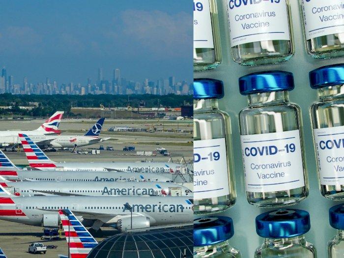 Pekerja Maskapai Penerbangan AS Berkampanye untuk Jadi Prioritas Penerima Vaksin Covid-19
