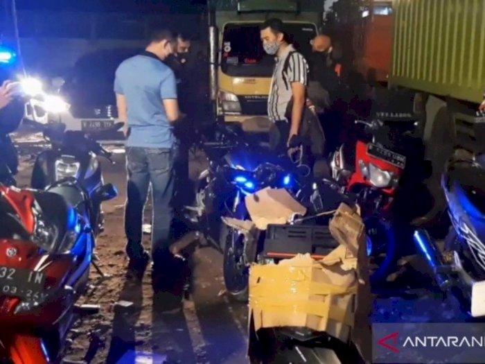 """Puluhan Motor """"Bodong"""" dari Penagih Utang Siap Dikirim ke Jambi Akhirnya Disita Polisi"""