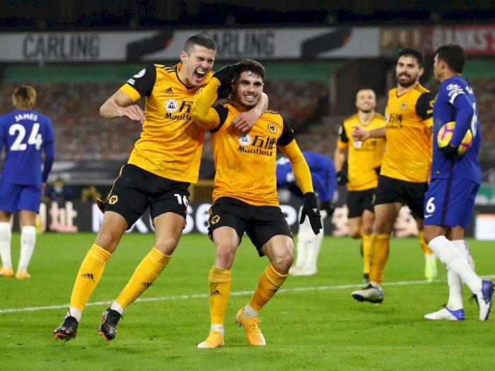 FOTO: Liga Inggris, Wolves Kalahkan Chelsea 2-1